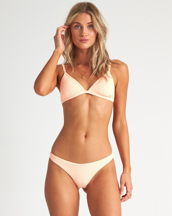 0 Under The Sun Tanga - Braguita de bikini acanalada para Mujer Rosa S3SB30BIP0 Billabong