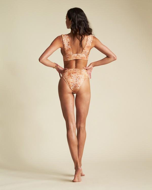 0 Over The Sun Maui - Bas de bikini taille haute imprimé serpent pour Femme Multicouleurs S3SB65BIP0 Billabong