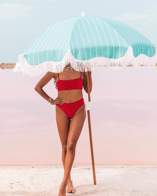 0 Rio Rain Maui - High Waist Bikinihose mit Pünktchen für Damen Rot S3SB68BIP0 Billabong