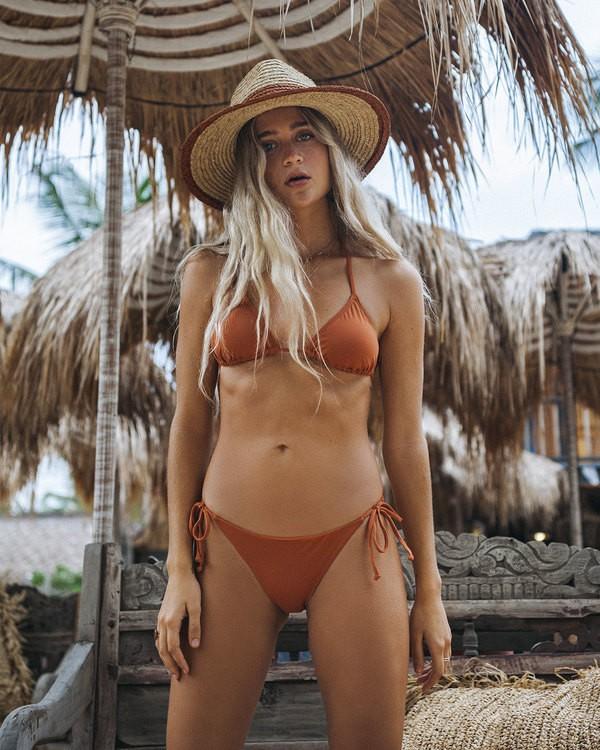 0 Sol Searcher Tropic - Braguita de Bikini con Lazadas Laterales para Mujer Marron S3SB85BIMU Billabong