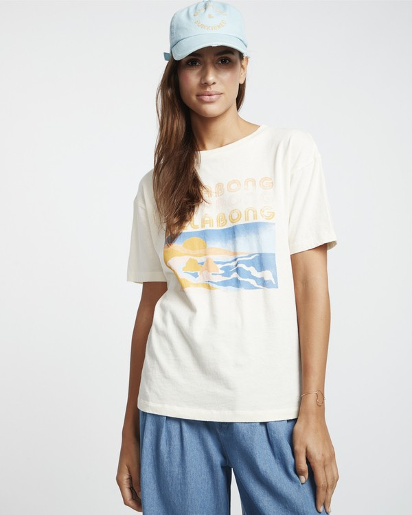 0 Coast Line - Camiseta para Mujer Blanco S3SS03BIP0 Billabong