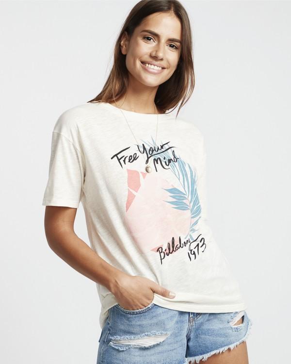 0 Free Your Mind - T-Shirt für Damen Weiss S3SS09BIP0 Billabong