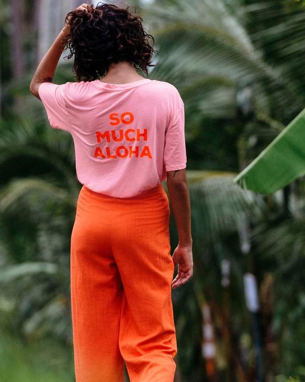 0 So Much Alhoa - Grafik-T-Shirt für Damen Rosa S3SS16BIP0 Billabong