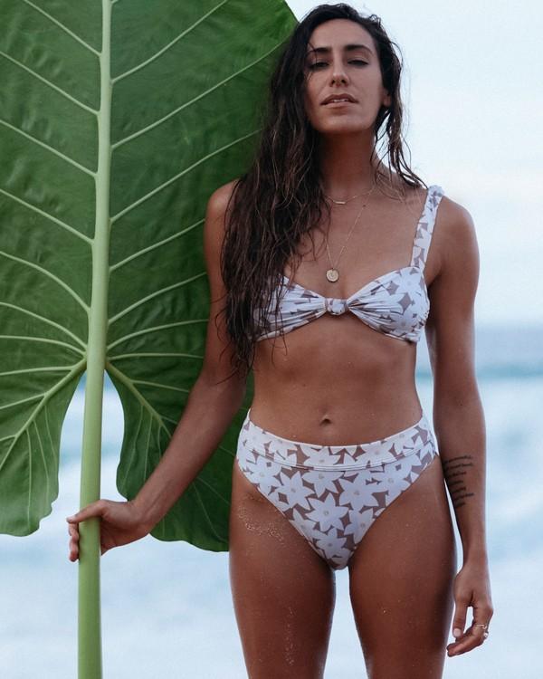 0 Slow Daze Knot Top - Top de bikini bandeau floreado para Mujer Marron S3ST28BIP0 Billabong