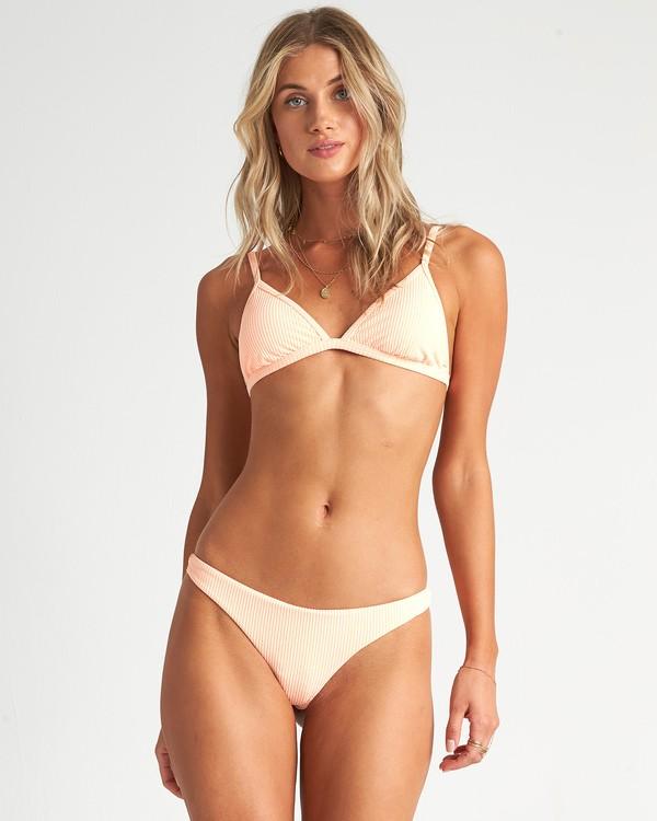 0 Under The Sun Tri - strukturiertes Triangel-Bikinitop für Damen Rosa S3ST31BIP0 Billabong