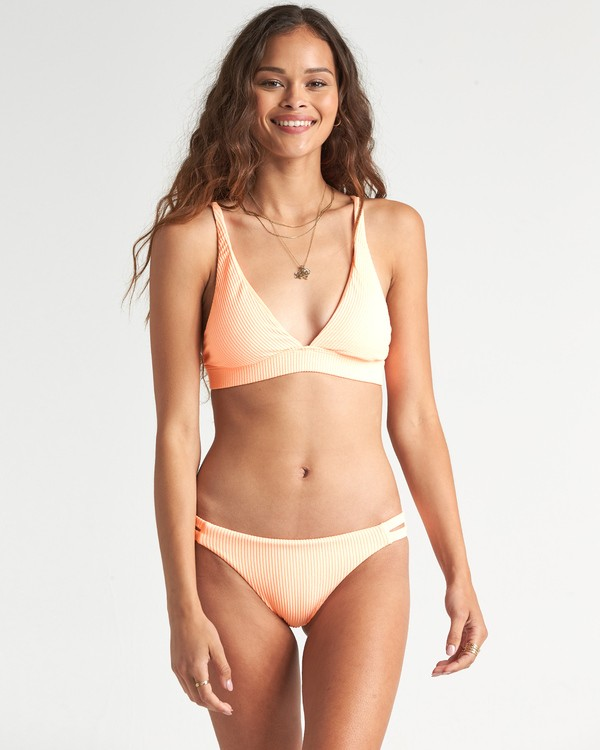0 Under The Sun Hi Tri - geripptes Triangel-Bikinitop für Damen Rosa S3ST33BIP0 Billabong