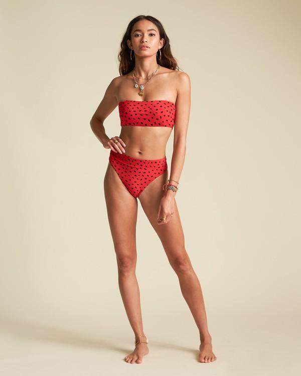 0 Rio Rain Tube Top - Top de bikini de tubo con estampado de lunares para Mujer Rojo S3ST66BIP0 Billabong