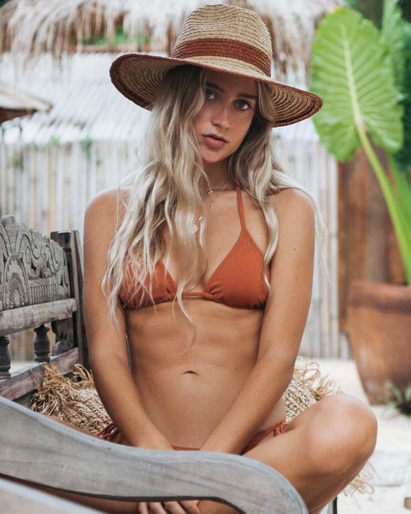 0 Sol Searcher - Top de bikini triangular para Mujer Marron S3ST85BIMU Billabong