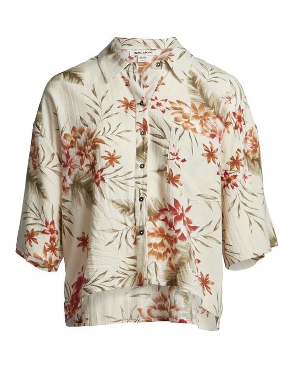 0 Isa Island - Camisa holgada con botones para Mujer Multicolor S3TP07BIP0 Billabong
