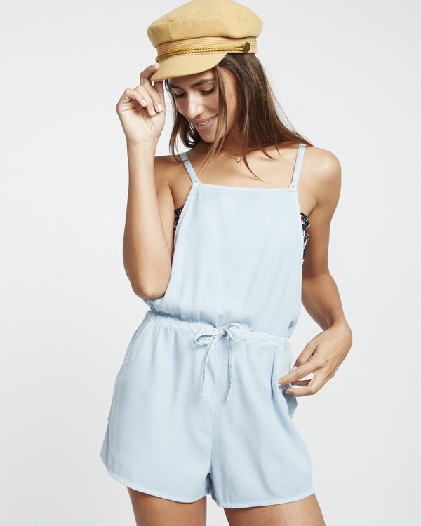 0 Bermuda Playsuit - Short Overalls for Women Blue S3WK19BIP0 Billabong