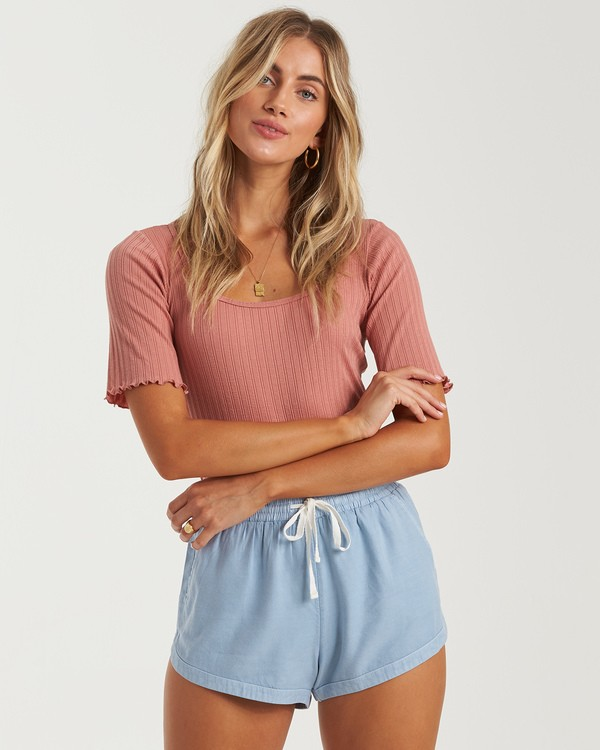 0 Road Trippin - Pantalones cortos de tela para Mujer Azul S3WK26BIP0 Billabong