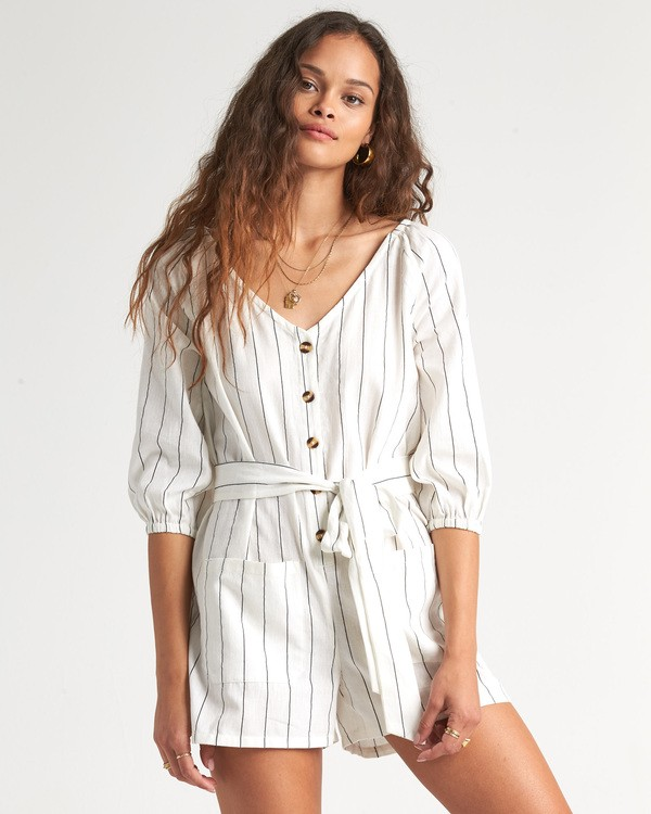 0 Work Play - Playsuit for Women White S3WK33BIP0 Billabong