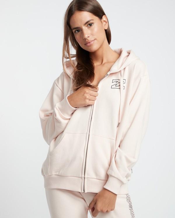0 Legacy Zip Hood - Fleece for Women Pink S3ZH03BIP0 Billabong