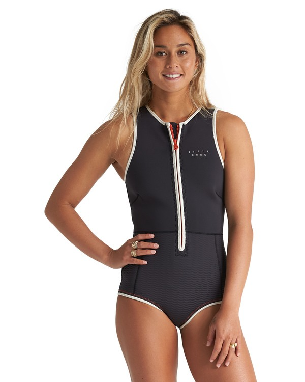 0 2mm Sol Sis - Traje de surf corto sin mangas para Mujer Multicolor S42G52BIP0 Billabong
