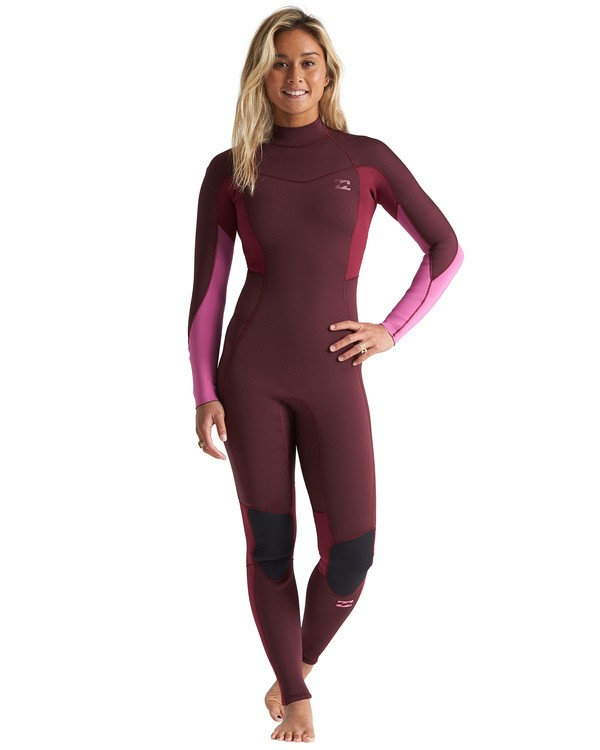 0 3/2mm Synergy FL - Back Zip Wetsuit for Women Red S43G54BIP0 Billabong