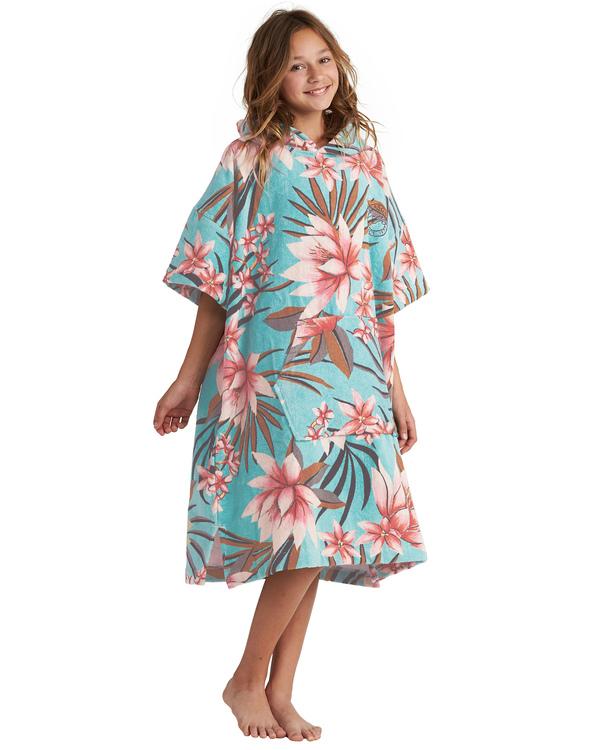 0 Teen - großes Badetuch mit Kapuze zum Umziehen für Mädchen Blau S4BR51BIP0 Billabong