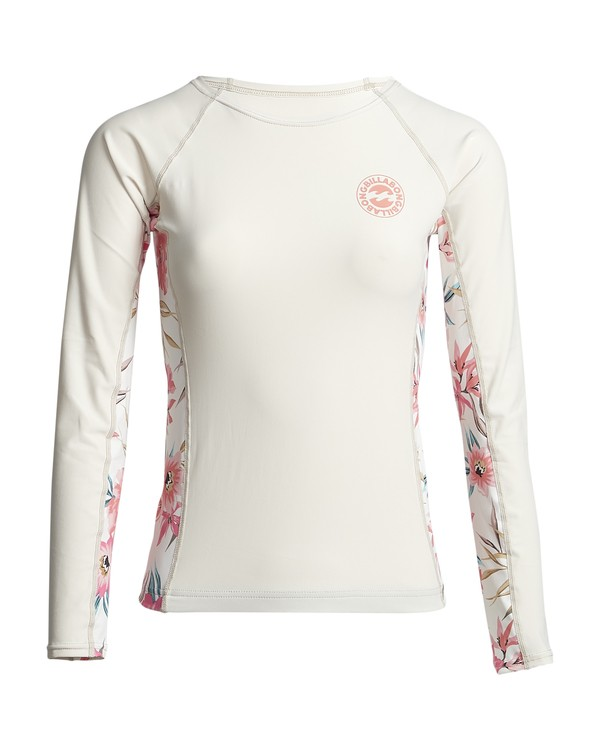 0 FLOWER YOKE LS Weiss S4GY08BIP0 Billabong