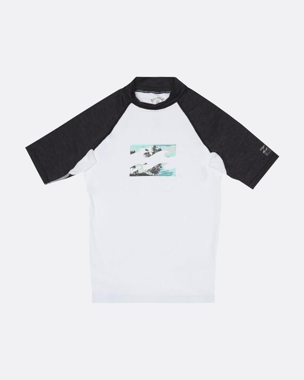 0 Team Wave - Short Sleeve UPF 50 Rash Vest for Boys White S4KY11BIP0 Billabong