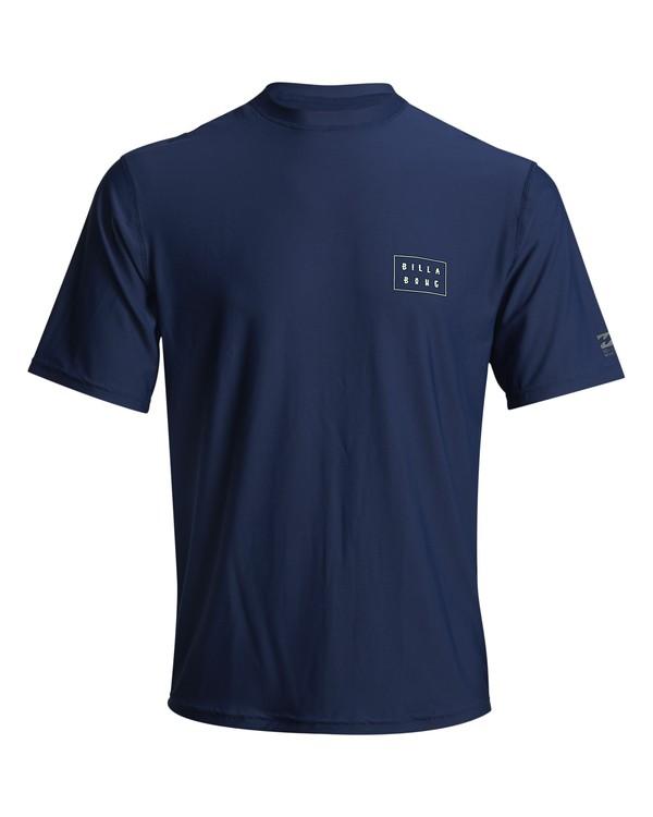 0 Die Cut - kurzärmeliges Lycra mit UPF 50 für Herren Blau S4MY09BIP0 Billabong