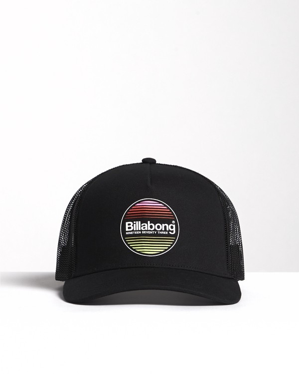 0 Flatwall - Trucker Hat for Men Black S5CT04BIP0 Billabong