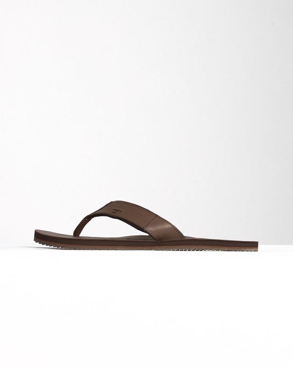 0 Seaway Leather - Flip-Flops for Men Brown S5FF19BIP0 Billabong