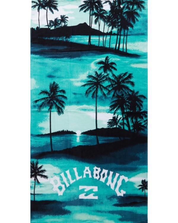 0 Waves - Printed Beach Towel for Men Blue S5TO01BIP0 Billabong