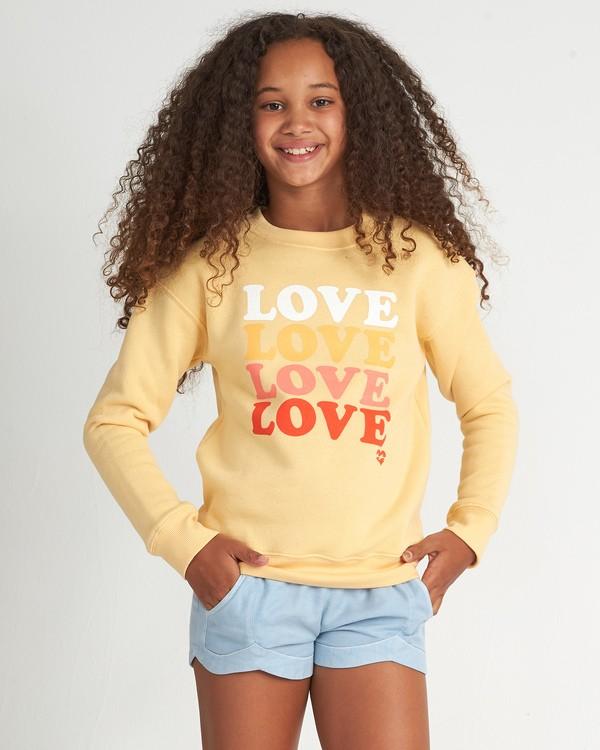 0 So Much Love Cr - Sudadera con estampado gráfico para Chicas adolescentes Amarillo S8CR01BIP0 Billabong