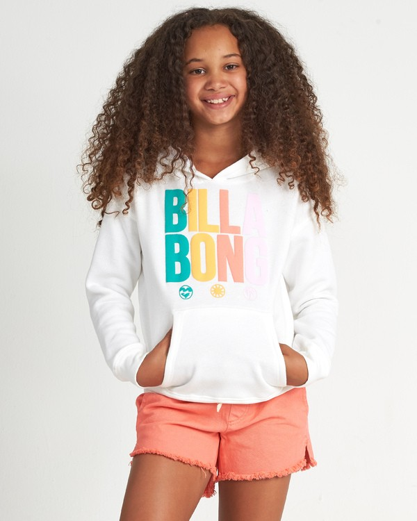 0 Since 73 Ho - Sudadera con capucha con estampado gráfico para Chicas adolescentes Blanco S8HO01BIP0 Billabong
