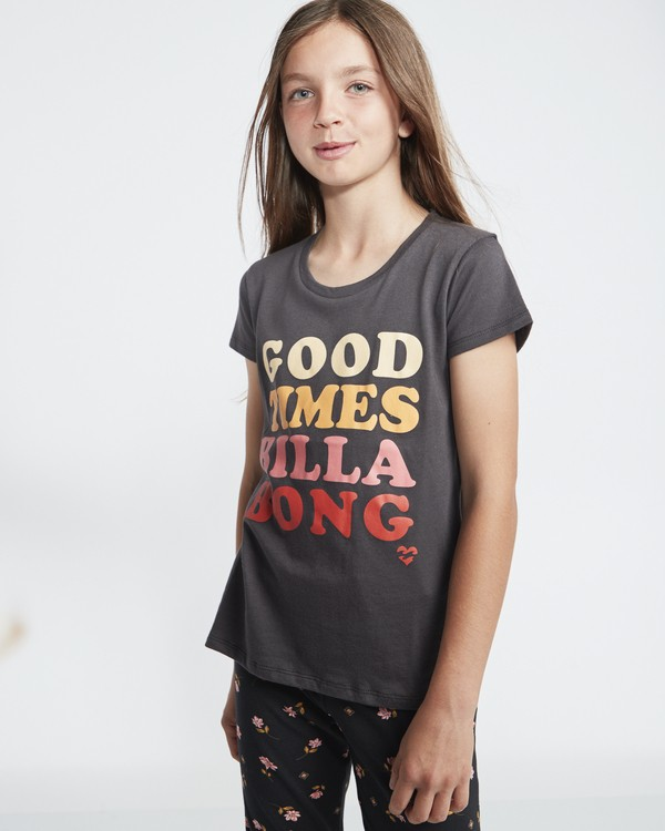 0 So Much Love - Camiseta con estampado gráfico para Chicas adolescentes Negro S8SS01BIP0 Billabong