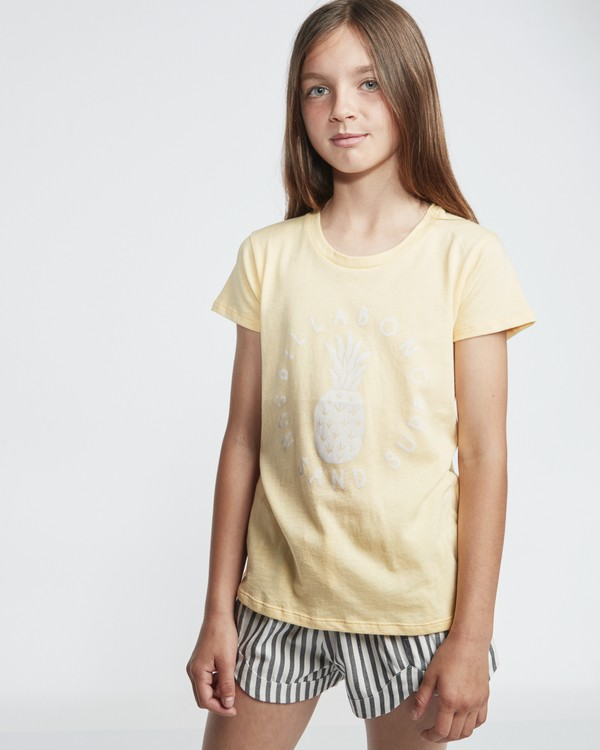 0 Sand And Surf - Camiseta para Chicas adolescentes Amarillo S8SS02BIP0 Billabong
