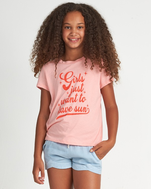 0 Girls Want Sun - Grafik-T-Shirt für Mädchen Rosa S8SS05BIP0 Billabong