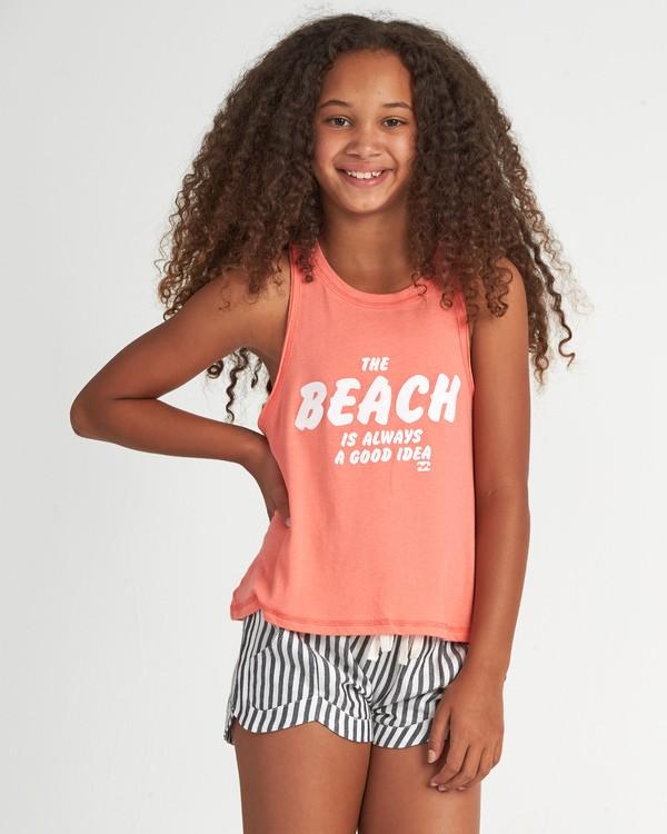0 Beach Idea - T-Shirt für Mädchen Rosa S8TT01BIP0 Billabong