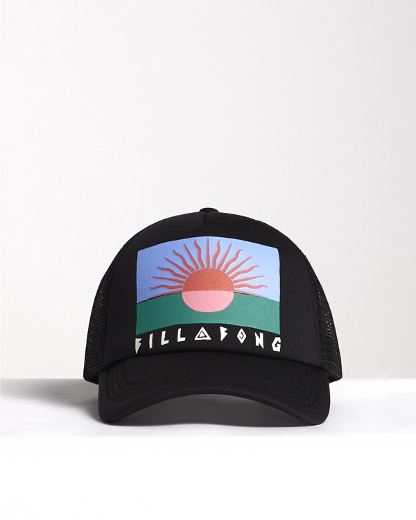 0 Across Waves - Graphic Trucker Hat for Women Black S9CT05BIP0 Billabong