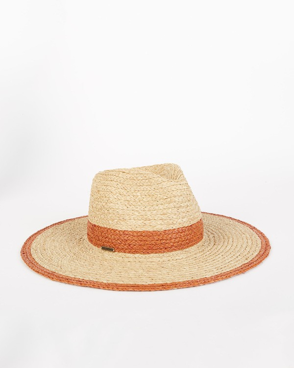 0 State Of Mind - Straw Fedora Hat for Women Brown S9HT03BIP0 Billabong
