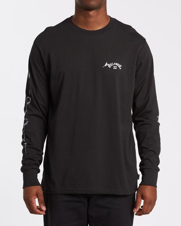 0 Truffula - T-shirt manches longues pour Homme Noir T1LS02BIS0 Billabong