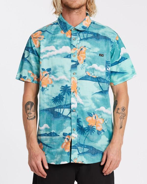 0 Sundays Floral - Camiseta de manga corta para Hombre Azul T1SH03BIS0 Billabong