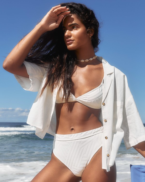 0 Peeky Days Rise - High Waist Bikini Bottoms for Women White T3SB10BIS0 Billabong