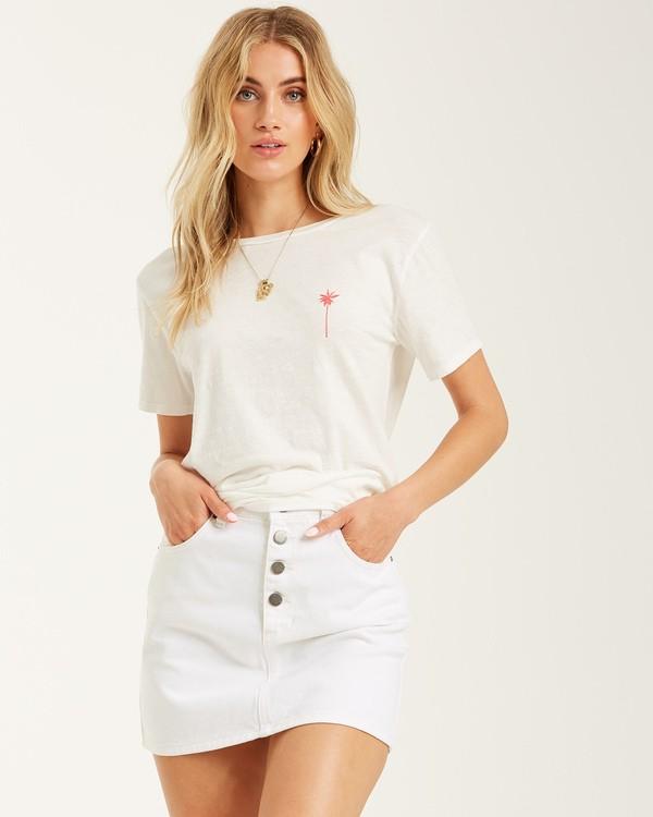 0 Stars and Palms - Camiseta para mujer Blanco T3SS05BIS0 Billabong