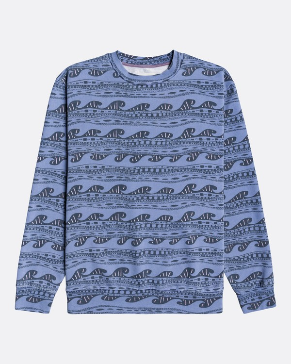 0 Wave Wash Halfrack - Sweatshirt für Männer Blau U1FL08BIF0 Billabong