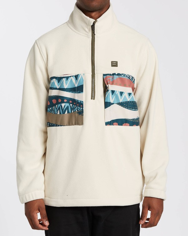 0 Adventure Division Collection Canyon Half - Half-Zip Fleece for Men Grey U1FL33BIF0 Billabong