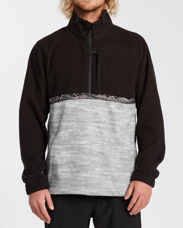 0 Adventure Division Collection Boundary Mock Neck - Sweat déperlant pour Homme Noir U1FL35BIF0 Billabong