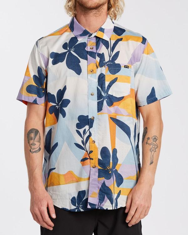 0 Sundays Floral - Camisa de manga corta para Hombre Azul U1SH05BIF0 Billabong