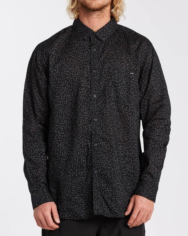 0 Sundays Mini - Langärmliges Hemd für Männer Grau U1SH11BIF0 Billabong