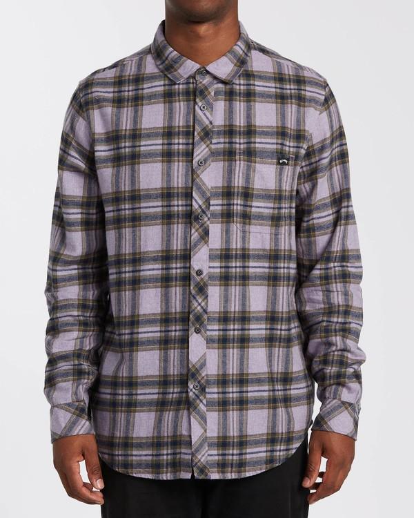 0 Coastline - Camisa de manga larga para Hombre Violeta U1SH12BIF0 Billabong