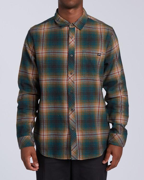 0 Coastline - Camisa de manga larga para Hombre Negro U1SH12BIF0 Billabong
