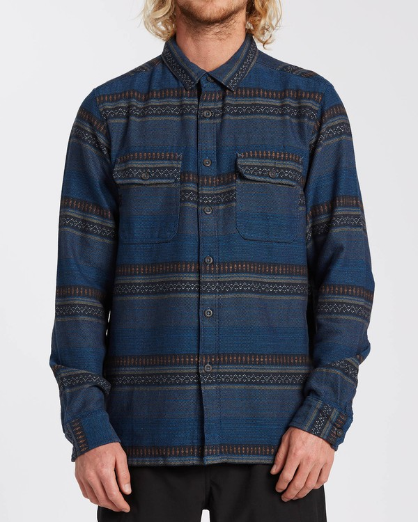 0 Desert Seas Jacquard - Camisa de manga larga para Hombre Azul U1SH13BIF0 Billabong