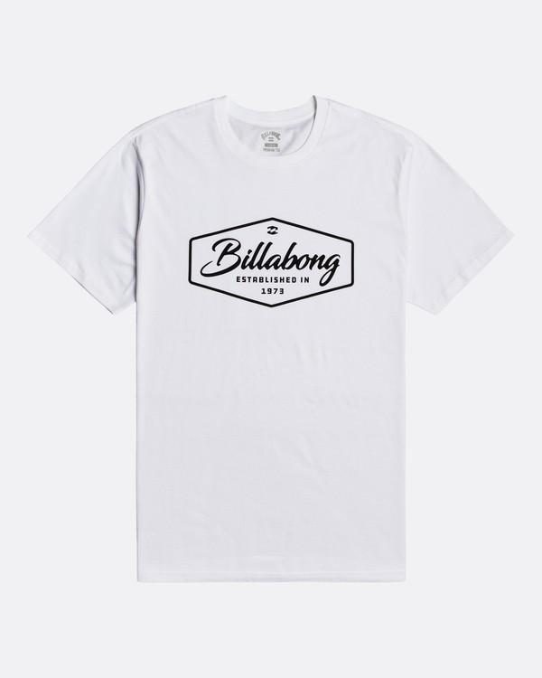 0 Trademark - Camiseta para Hombre Blanco U1SS53BIF0 Billabong