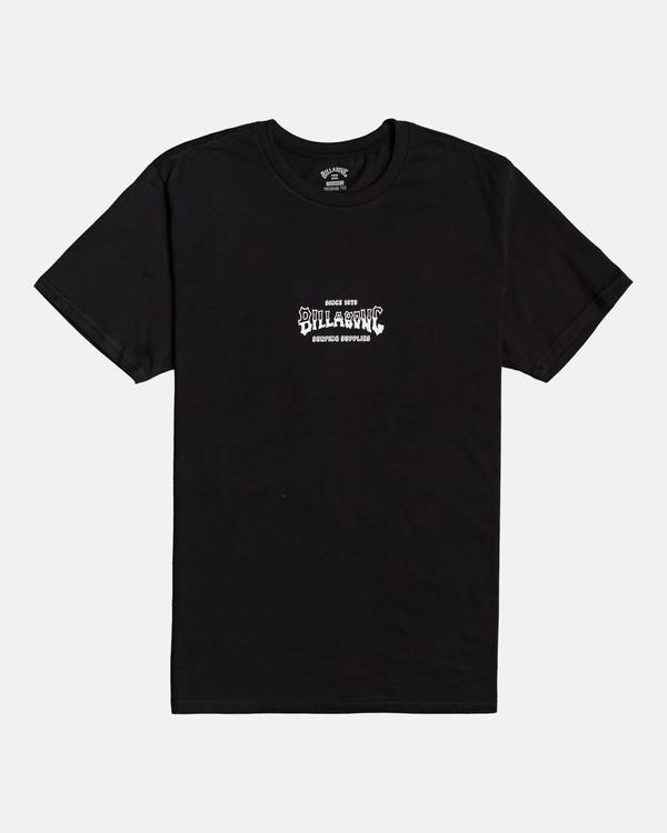 0 Supply Wave - Camiseta para Hombre Negro U1SS77BIF0 Billabong