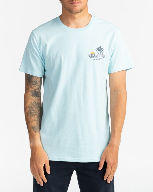 0 Palmas - T-Shirt for Men Blue U1SS78BIF0 Billabong