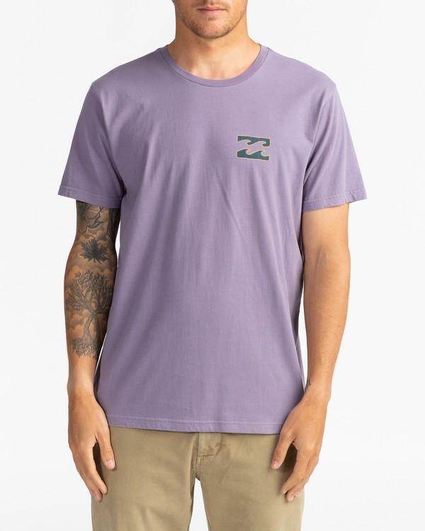 0 Crayon Wave - T-Shirt for Men Purple U1SS86BIF0 Billabong
